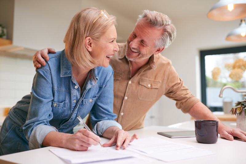 Retirement Couple Reviewing Investments
